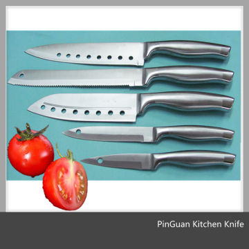 5pcs Set Stainless Steel Hollow Handle Kitchen Knives Set
