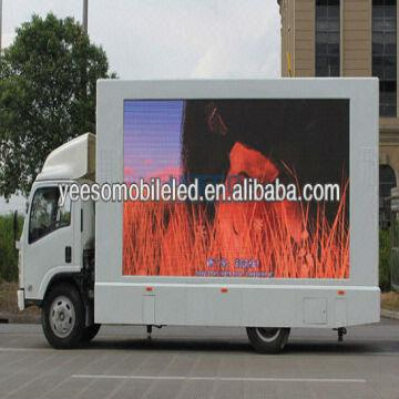Outdoor mobile digital media led billboard trucks,YES-V8