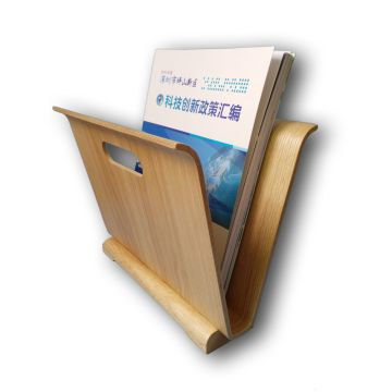 China Best Price Bamboo Wood Magazine Book Brochure File Holder Organizer Rack Stand For Home And