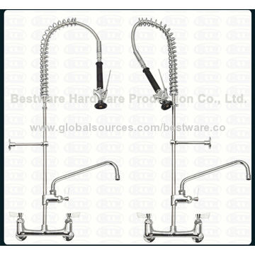 ... China 8 Inch Wall Mounted Commercial Kitchen Faucet With 6 Inch Swing  Nozzle ...