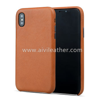 China Phone Back Cover Leather Case for iPhone X