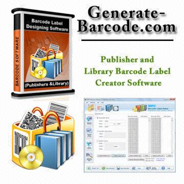 Publisher and Library Barcode Label Creator Software