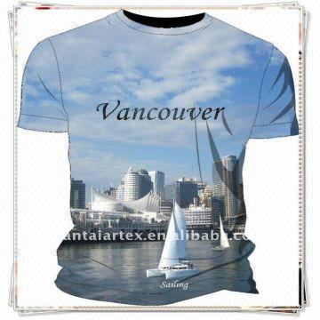 ac546c5b2 2012 Newest Fashion Polyester Cotton Women Sexy O Neck Sublimation Heat  Transfer Print T-shirt