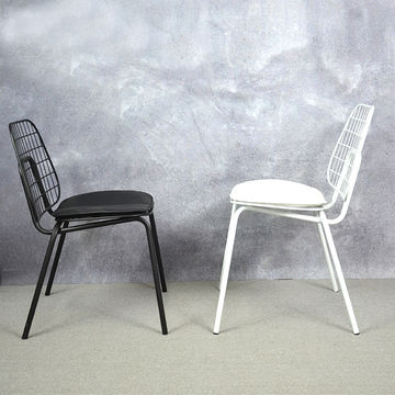 Wire Chair Loft Style Metal Design Dining Side Chair