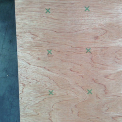 China 52mm X 1220x1220mm Hardwood Core Plywood For Flooring