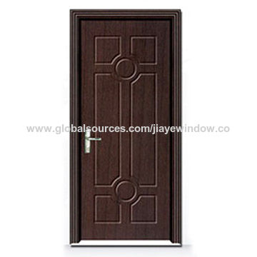 China Latest Stainless Steel Safety Door Design With Grill Paint