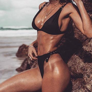 Lycra sling bikini speaking