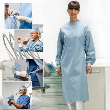 Wood pulp spunlace sterile surgical gown | Global Sources