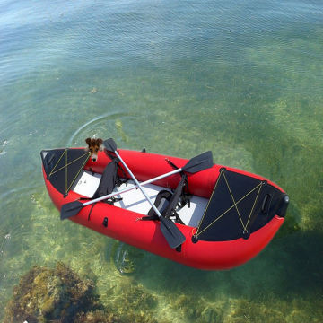 Inflatable boat fishing kayak for sale in pvc material