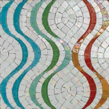 Floor tile mosaic patterns