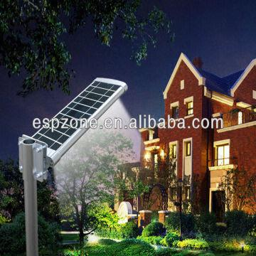 China Elegant Integrated Solar Panel Street Led Light Outdoor Lighting Garden Lights La