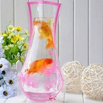 Innovative Pvc Folding Plastic Water Vasefish Tank Eco Friendly