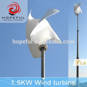 1 5kw S type vertical axis wind power generator | Global Sources
