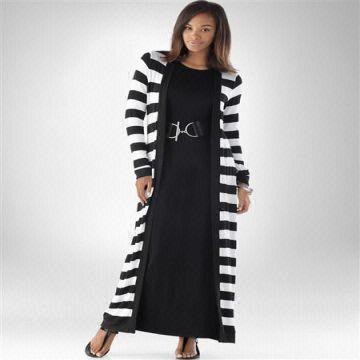 fdf8cbab5 China Striped Casual Maxi/organic Acrylic Cotton/long Sleeve/open Front/ dress
