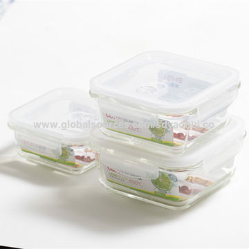 1040ml food storage container glass food container easy lock food