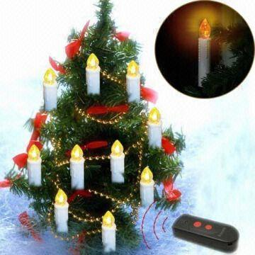 Multi-function Remote Control LED Candle/Christmas tree led candle ...