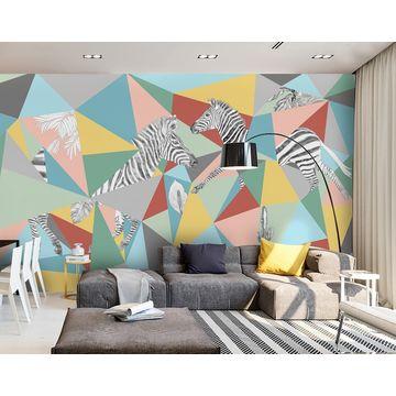china gris* abstract color block\u0026zebra wall mural from hangzhouchina gris* abstract color block\u0026zebra wall mural wallpaper for living room custom