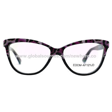 7d2afc58c93 China New design fashion color cat eye women s acetate optical frame ...