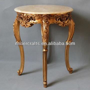 Attirant ... China High Feet Golden Leaf Finish Side Table,french Style Coffee Table