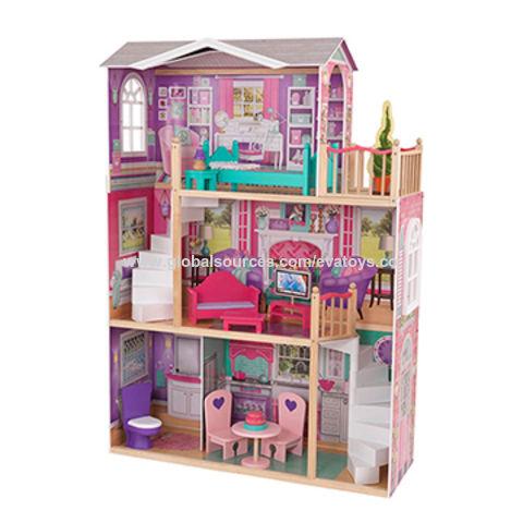 China Wholesale New Design Big Size Kid S Wooden Elegant Doll House