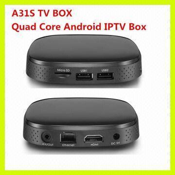 Quad Core A31S Malaysia IPTV Box Android Media Player+IPTV