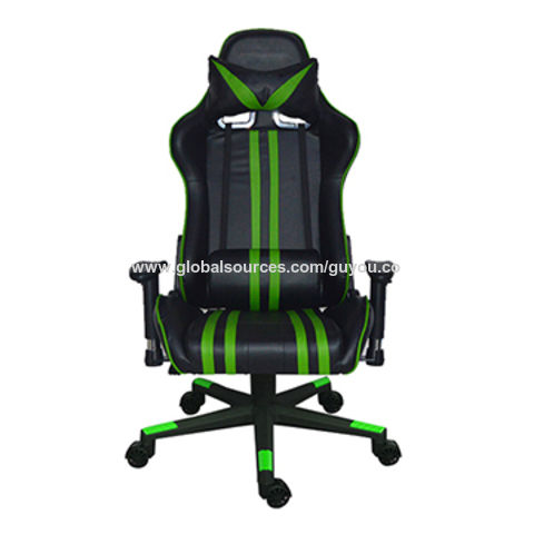 China Guyou Modern Swivel Green Sports Gaming Chair Leather Office