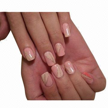 Nails Art of Soak-off Multifuctional Peach UV Gel, Fashion Design ...