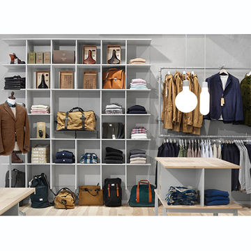 Wood Clothes Stand To Hang Clothes For Clothing Shop Interior Design