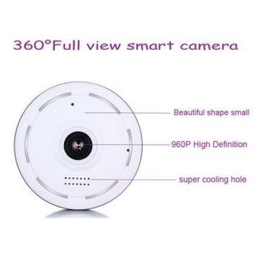 China 360 Degrees Panoramic 960P Fisheye WiFi IP Camera