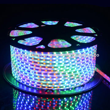 China 220v 5050 Led Rope Lights Three Color With Remote Control