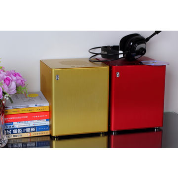 China Server Housing with 1.5mm Thick Aluminum, Red Case, Mini-ITX M/B