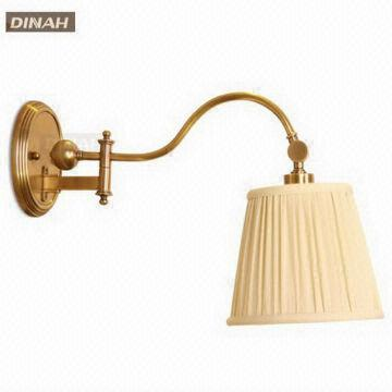 Luxury america style bronze antique brass modern wall lamps with china luxury america style bronze antique brass modern wall lamps with fabric shade candle sconces mozeypictures Images