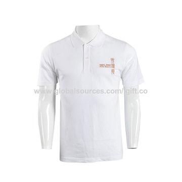 fd7de6b7 Macau SAR Women's short-sleeved polo shirts, white-stag casual made of  cotton ...