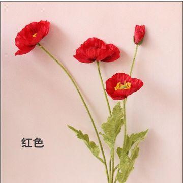 Artificial poppy flower silk cloth material europe and the united china artificial poppy flower silk cloth material europe and the united states hot money mightylinksfo Choice Image