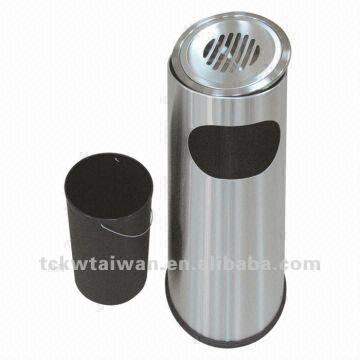 Taiwan Stainless Steel Cigarette Bin Round Ashtray Stand Outdoor