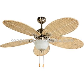 Rattan Ceiling Fan China Electric 52