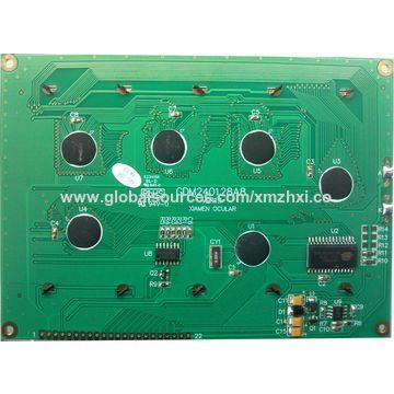 240x128 dots graphics industrial LCD module for pneumatic equipment, RA6963, die