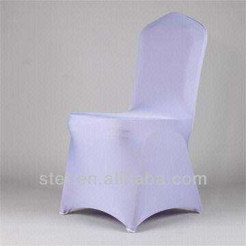 ... China Romantic Light Purple Wedding Spandex Hotel Chair Cover