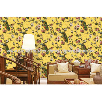 China Wall decoration simple and elegant PVC living room vinyl ...