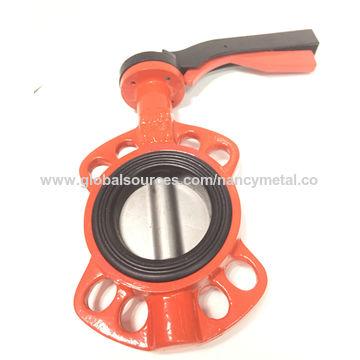 China Cast Iron Wafer Type Butterfly Valve