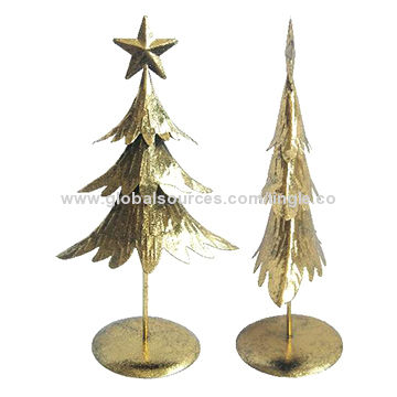 china metal christmas tree for tabletop decorations