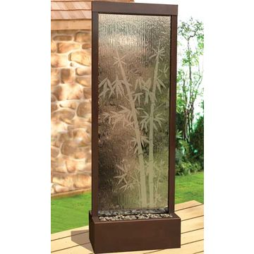 hot sale indoor glass waterfall restaurant decorative room divider ...