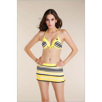 49e88ca70df42 China Three set bikini set mini skirt swimsuit 2014 fashionable swimsuit  girl bathing suit