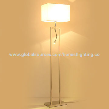 China modern stainless steel floor lamp from zhongshan china modern stainless steel floor lamp aloadofball Images
