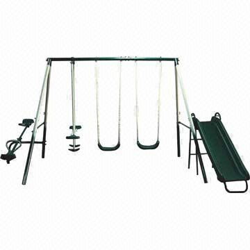Swing Set With Slide And Seesaw Global Sources