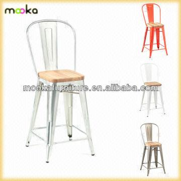 Wondrous Wooden Seat Tolix Barstool High Back Tolix Barstool Replica Gmtry Best Dining Table And Chair Ideas Images Gmtryco