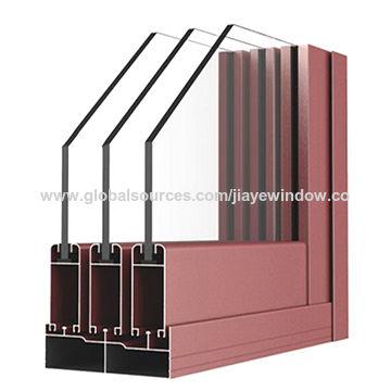 China Powder Coated Aluminum Profile For Sliding Window With 6063