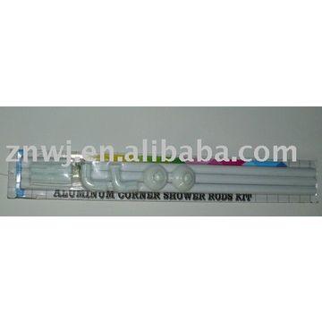 Aluminum Corner Shower Rods Kit | Global Sources