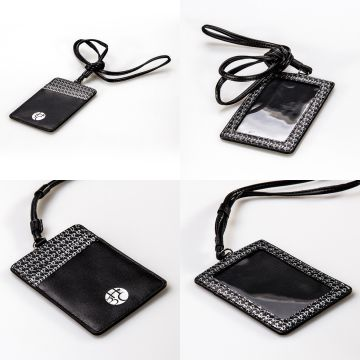 Employee Badge Holder ID Card Holder With Lanyard Leather