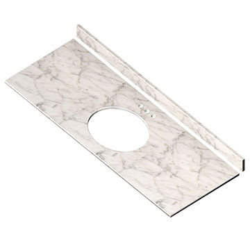 China 61 Inch Vanity Top, Carrara White Marble